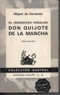 Miguel De CERVANTES El Ingenioso Hidalgo Don Quijote De La Mancha - Classiques