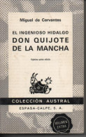 Miguel De CERVANTES El Ingenioso Hidalgo Don Quijote De La Mancha - Classical