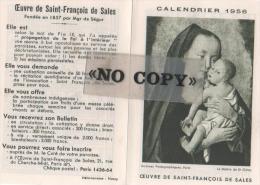 CALENDRIER  1956  ( L´ Oeuvre De SAINT - FRANÇOIS  DE  SALES ) - Calendriers