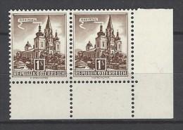 ÖSTERREICH - Mi-Nr. 1073 Paar - Randstück Freimarken Für Automaten - Bogenmarken -postfrisch (1) - 1945-.... 2. Republik