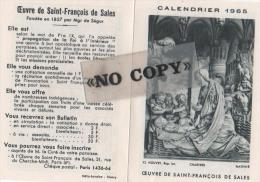 CALENDRIER  1965  ( L´ Oeuvre De SAINT - FRANÇOIS  DE  SALES ) - Calendriers