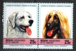 Bequia Grenadines St. Vincent 1985 - Cani, Dogs MNH ** - St.Vincent E Grenadine