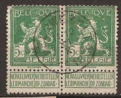 MW-1957      VELDWEZELT   1913 - Postmarks With Stars