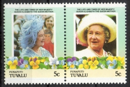 """Tuvalu Funafuti 1985 - Regina Elisabetta """"Regina Madre"""", Queen Elizabeth """"Queen Mother"""" MNH ** - Tuvalu"""