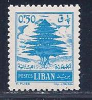 Lebanon, Scott # 315 Mint Hinged Cedar, 1957 - Lebanon