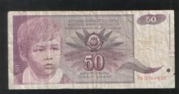 YUGOSLAVIA 50 Dinara 1990 - Yugoslavia