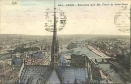 PARIS 4 - Panorama Pris Des Tours De Notre-Dame           -- JH 664 - Arrondissement: 04