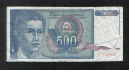 YUGOSLAVIA 500 Dinara 1990 - Yugoslavia