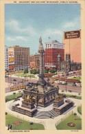 Ohio Cleveland Soldiers And Sailors Monument Public Square 1943