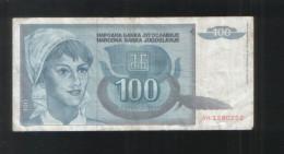 YUGOSLAVIA 100 Dinara 1992 - Yugoslavia