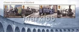 Great Britain - 2012 - Classic Locomotives Of Scotland - Mint Souvenir Sheet - 1952-.... (Elizabeth II)