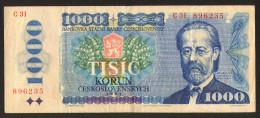 Czechoslovakia 1000 Tisic Korun            #b31 - Cecoslovacchia