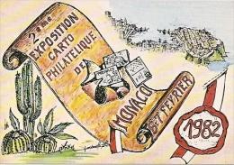 2º EXPOSITION DE CARTOPHILE ET PHILATÉLIE MONACO 1982 EDIT.GILLETTA NON CIRCULEE NEW RARISSIME GECKO - Tentoonstellingen