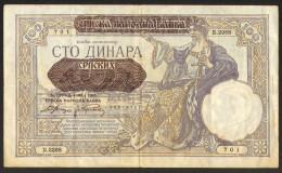 Yugoslavia 100 Dinara Srpskih Occupation 1941             #b33 - Jugoslavia