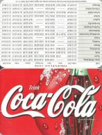 COCA-COLA * SOFT DRINK * CALENDAR * Coca-Cola 1998 * Germany - Calendarios