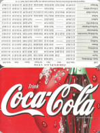COCA-COLA * SOFT DRINK * CALENDAR * Coca-Cola 1998 * Germany - Calendriers
