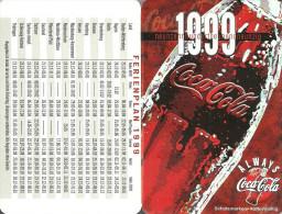COCA-COLA * SOFT DRINK * CALENDAR * Coca-Cola 1999 * Germany - Calendarios