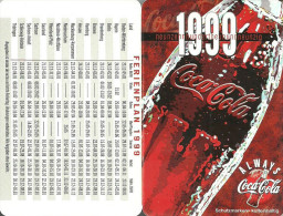 COCA-COLA * SOFT DRINK * CALENDAR * Coca-Cola 1999 * Germany - Calendriers