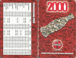COCA-COLA * SOFT DRINK * CALENDAR * Coca-Cola 2000 * Germany - Calendriers
