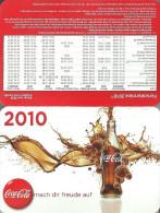 COCA-COLA * SOFT DRINK * CALENDAR * Coca-Cola 2010 * Germany - Tamaño Pequeño : 2001-...