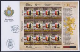 """2013 SAN MARINO """"120 ANNI DEL GENOA CALCIO"""" FDC MINIFOGLIO - FDC"""