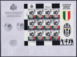 "2013 SAN MARINO ""JUVENTUS CAMPIONE D´ITALIA 2012/2013"" MINIFOGLIO FDC - FDC"