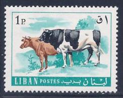 Lebanon, Scott # 454 MNH Cattle, 1968 - Liban