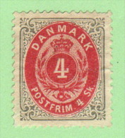 DEN SC #18 MNG  1871 Numeral W/split Wmk, W/perf Flts @ TR, BR, CV $40.00 - 1864-04 (Christian IX)