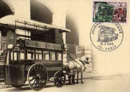Journee Du Timbre Paris 1969,Omnibus Des Facteurs De Paris Vers 1890,obliteration,timbre - Cartoline