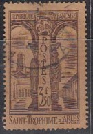 3.50f France Used 1935, St. Trophime Arles Church, Former Cathedral, Architrecture, Monument,  Carving, Flag, - Oblitérés