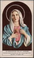 Santino - Holy Card - Madonna Delle Lacrime Di Siracusa - Images Religieuses