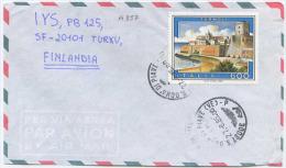 1985 TERMOLI L.600 ISOLATO POSSIBILE BREVE PERIODO LETTERA ESTERO 27.6.85 X FINLANDIA RARA DESTINAZIONE (A357) - 1981-90: Storia Postale