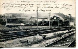 N°1391A -cpa Evreux (27) -chemins De Fer De L'état- Le Dépôt- - Estaciones Sin Trenes