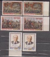 Russia USSR 1955 Mi# 1786-1788 Anniversary Of October Revolution MNH * * Different Tint - 1923-1991 USSR