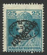 Hungary, 25 F. 1919, Sc # 2N49a, Mi # 59b, Debreczen, Romanian Occupation, MH - Debreczen