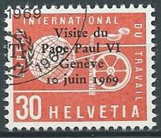 1969 SVIZZERA USATO SERVIZIO VISITA PAPA PAOLO VI A GINEVRA - Officials