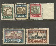 Estland Estonia Estonie 1927 Medieval Castles Michel 63 - 67 **/* - Estonia