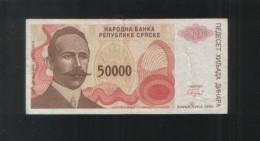 BOSNIA And HERZEGOVINA 50 000 Dinars 50000 Republic Srpska 1993 - Bosnia And Herzegovina