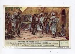 Chromo Liébig - Histoire Du Congo Belge (1er Partie) - Première Traversée De L'Afrique - N°2 - Liebig