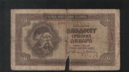 YUGOSLAVIA 20 Dinara 1941 - Yugoslavia