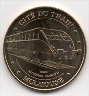 Mulhouse (68) : Cité Du Train, Autorail Bugatti 1933 (Monnaie De Paris 2009) - Monnaie De Paris