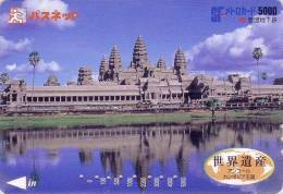 Carte Japon - CAMBODGE - Temple D´ ANGKOR VAT / Site Khmer  - CAMBODIA Rel. Asia Japan Card - 05 - Landschappen