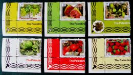 BANDE DE GAZA - FRUITS 2013 - NEUFS ** - YT 281A/81F - COINS DE FEUILLES - Palestine