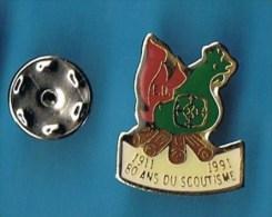 PIN�S //   .  E. U.  80 ANS DU SCOUTISME  1911 - 1991