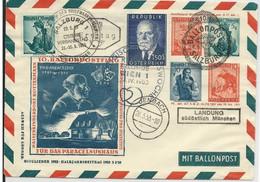 1953 - BALLONPOST - ENVELOPPE ENTIER POSTAL Par BALLON De SALZBURG - 1945-60 Brieven