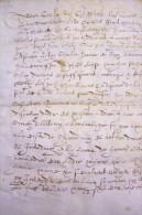 Pièce Qui Constate Que GOULPIED A Partagé Avec COCHON - MORLANT Et LAREBORDERIE.Aux Breuere.18 Fol.1587. - Documents Historiques