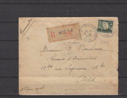 France - Nice -  N° 521 B Seul Obli/sur Lettre Recomandée - 1942 - 1941-42 Pétain