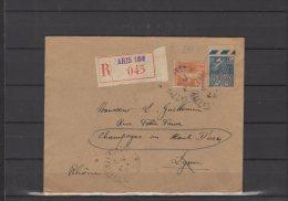 France - N° 235 Et 273 Obli/sur Lettre Recommandée   - 1931 - Brieven En Documenten