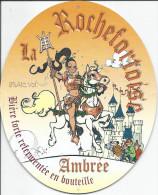 ROCHEFORT ..-- LA ROCHEFORTOISE AMBREE . Sous - Bock . 165 MM X 135 MM . SUPERBE !!! - Sous-bocks