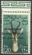 SOMALIA - 1960 Somaliland Independence Overprint 1s20 MNH **     SG 355  Sc C69 - Somalia (1960-...)